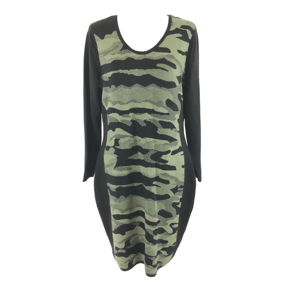 Say What? Dresses & Skirts - Say What? Sweater Dress Camoflage Long Sleeve 2X